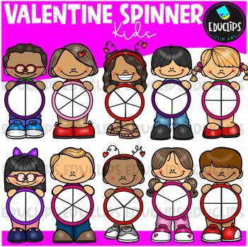 Valentine Spinners Clip Art Bundle