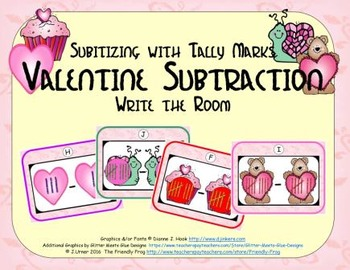 Valentine Subtraction {Subitizing with Tally Marks}