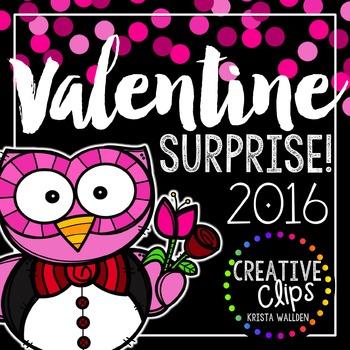 Valentine Surprise 2016 {Creative Clips Digital Clipart}