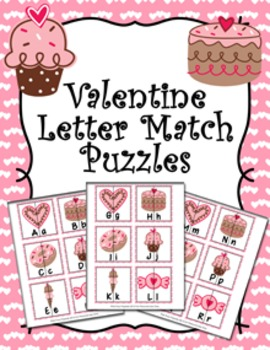 Valentine Sweets Letter Match Puzzles