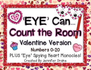 Valentine Theme **Count The Room** Numbers 0-20; 'Eye' Spy
