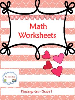 Valentine Theme Math Worksheets