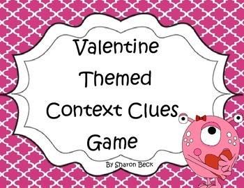 Valentine Themed Context Clue Game