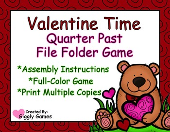Valentine Time Quarter Past File Folder Game