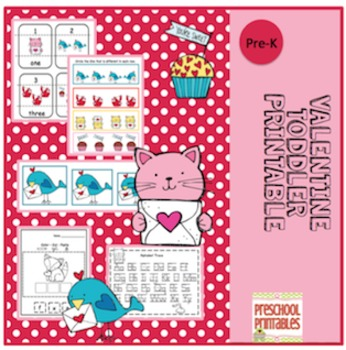 Valentine Toddler Printable