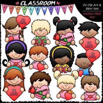 Valentine Topper Kids Clip Art - Valentine's Day Clip Art
