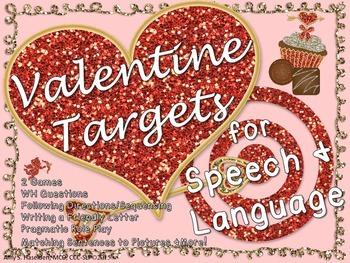 Valentine Speech Therapy Unit Language Activities Articula