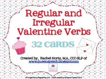 Valentine Verbs {Regular and Irregular Past Tense}