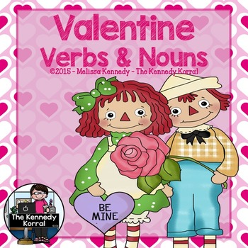 Valentine Verbs and Nouns Center {Mats, Cards, Worksheets & MORE}