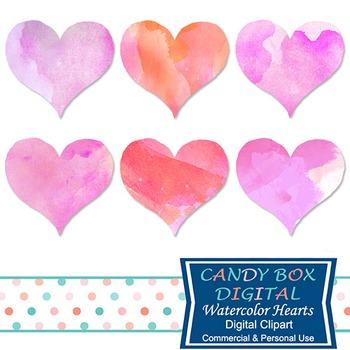 Valentine Watercolor Heart Clipart