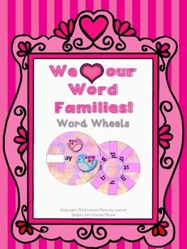 Valentine Word Family Wheels