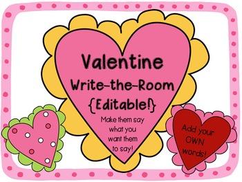 Valentine Write-the-Room {Editable!}