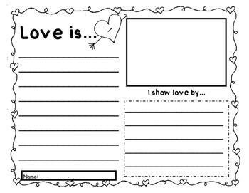 Valentine Writing- Love is