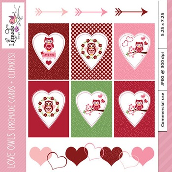 Valentine cards and clip arts