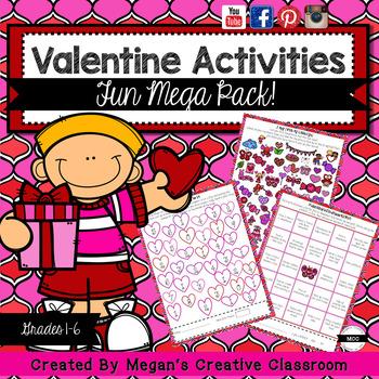 Valentine's Math and More Unit