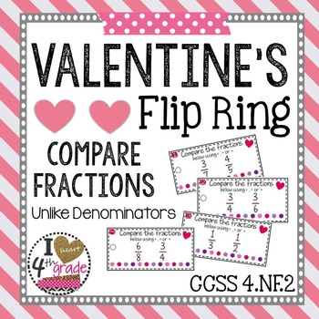 Valentine's Compare Fractions
