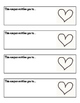 Valentine's Coupons (Students personalize for parents, tea