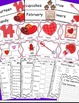 Valentine's Day Math and Literacy Bundle, February Activities