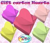 Craft - Gift carton Hearts - Editable Template
