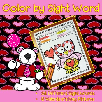 Valentine's Day: Color by Sight Word