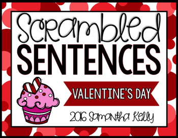 Valentine's Day Scrambled Sentence Station