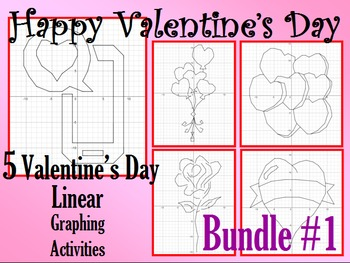 Valentine's Day - 5 Linear Equation Graphing Activities -