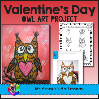 Valentine's Day Art Lesson, Owl with Hearts