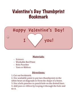 Valentine's Day Bookmark Craft