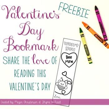 Valentine's Day Bookmark {FREEBIE}