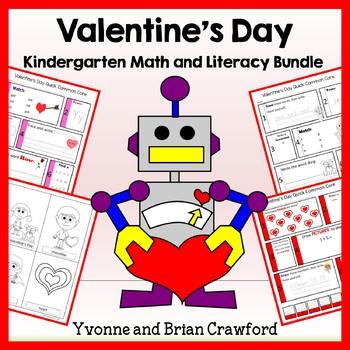 Valentine's Day Bundle for Kindergarten Endless