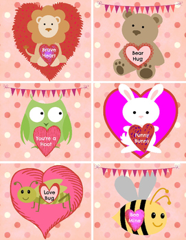 Valentine's Day CARDS for your students - cards are in Wor