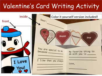 Valentine's Day Card Writing Activity