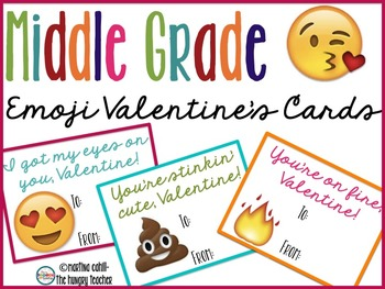 Valentine's Day Cards for Middle School and Upper Elementary