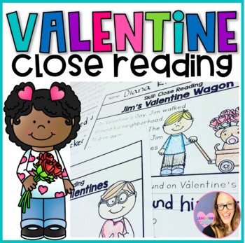 Close Reading Comprehension Printables- Valentine's Day