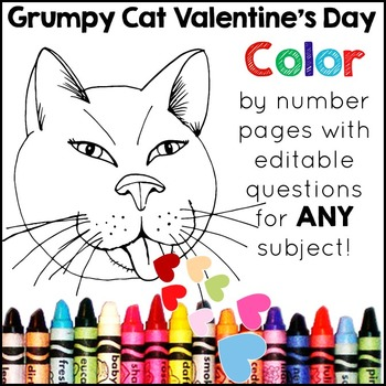 Valentine's Day Color by Number: A Valentine's Day Activit