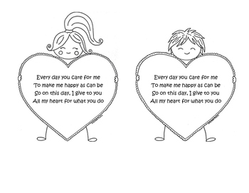 Valentine's Day Color-in Card/Template