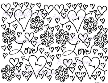 Valentine's Day Coloring Page #3