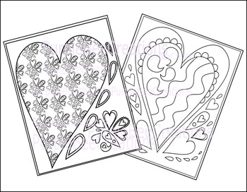 Valentine's Day Coloring Pages Set 1