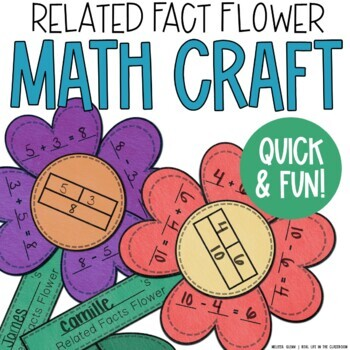 Valentine's Day Craftivity: Related Fact Flowers