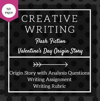Valentine's Day Creative Writing Activity: Origin Story/Fl