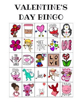 Valentine's Day Bingo Custom Printables