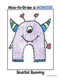 Valentine's Day Cute Monster Directed Drawing
