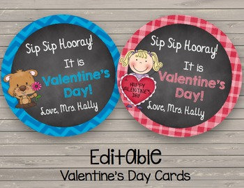 Valentine's Day {EDITABLE} Cards - Student Appreciation -