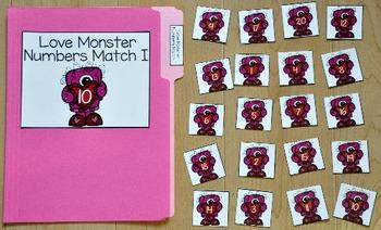 Valentine's Day File Folder Game:  Little Love Monster's N