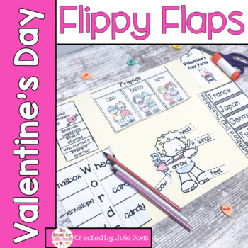Valentine's Day Flippy Flaps Interactive Notebook Lapbook