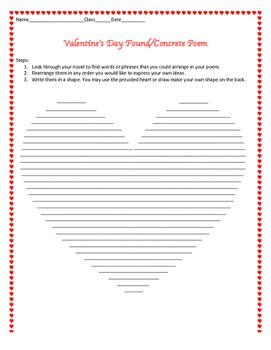 Valentine's Day Found Poem / Concrete Poem