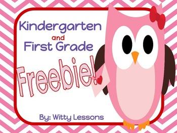 FREE Valentine's Day Worksheets: Kindergarten and First Grade
