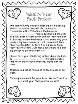 Valentine's Day Friendship Family Project