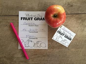 Small Tag Valentine's Day Fruit Gram (Candy Gram) Fund Raiser