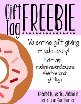 Valentine's Day Gift Tag FREEBIE!